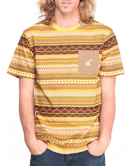 LRG Yellow Lion Rock Rock S/S Knit Tee
