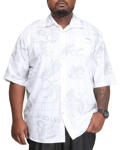 Enyce White Traveler L/S Button-Down (Big & Tall)