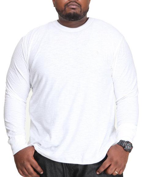 Enyce - Men White Austin Slub Crew Henley (B&T)