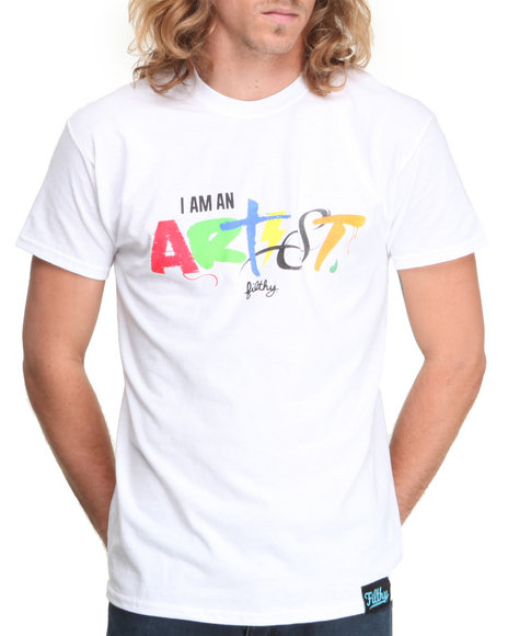 Filthy Dripped - Men White I Am An Artist T-Shirt