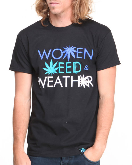 Filthy Dripped Black Weed Weather T-Shirt