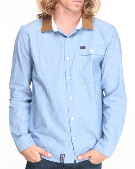 LRG Blue On The Hunt L/S Button-Down