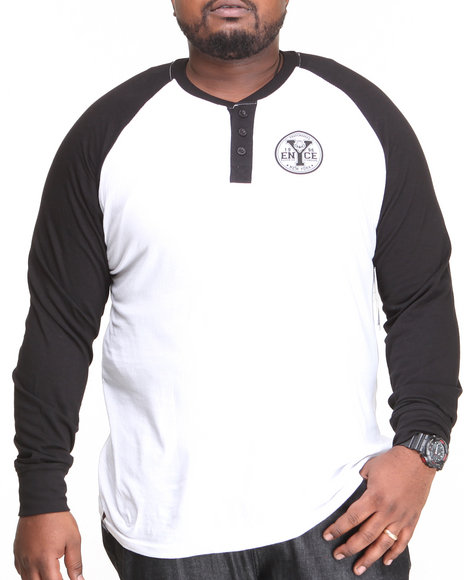 Enyce - Men Black Flying Tiger Baseball Polo (B&T)