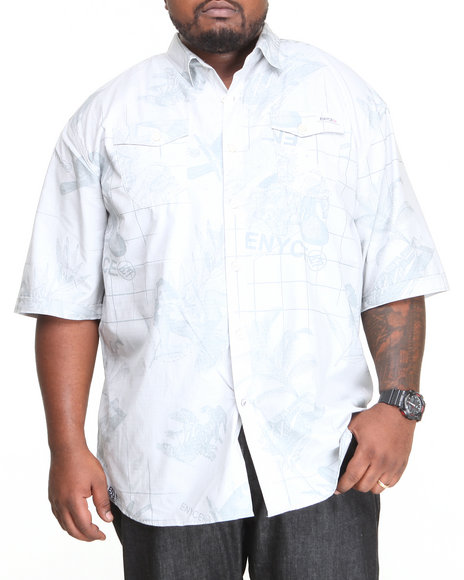 Enyce Grey Traveler L/S Button-Down (Big & Tall)