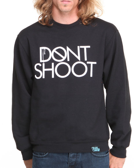 Filthy Dripped - Men Black Don't Shoot Crew Sweater