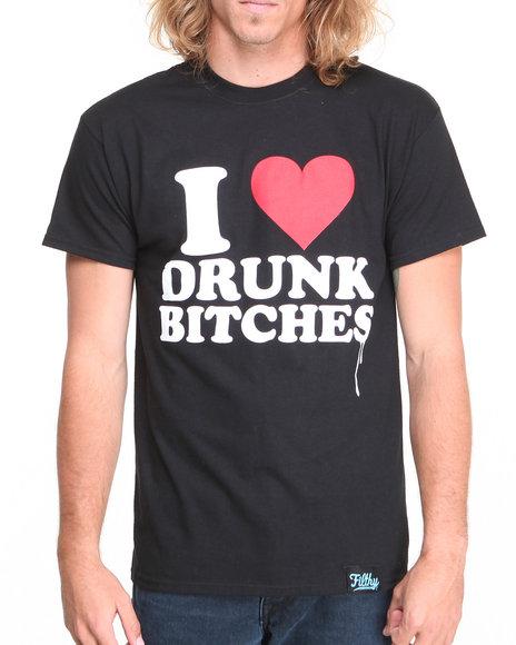 Filthy Dripped - Men Black Love Drunk T-Shirt - $21.99