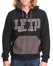 Outerwear - Lifted Varsity Zip-Up Hoodie