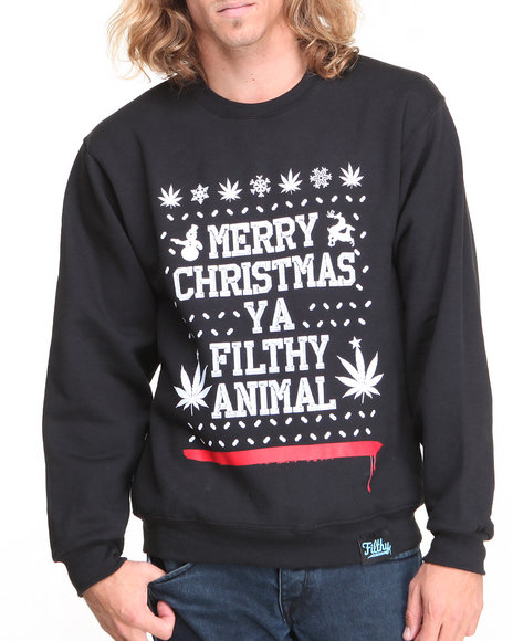 Filthy Dripped - Men Black Filthy Christmas Crew Sweater