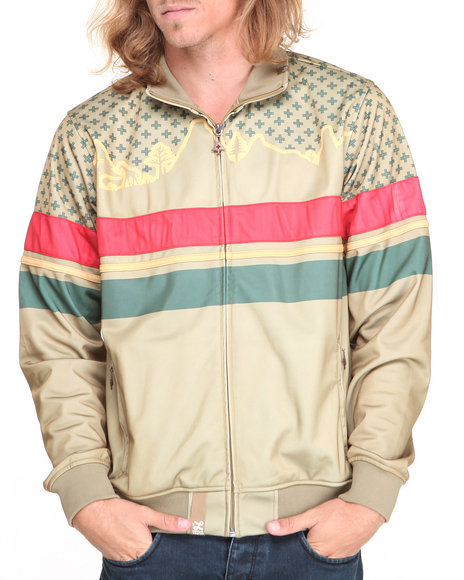 LRG - Men Khaki Wonderland Track Jacket