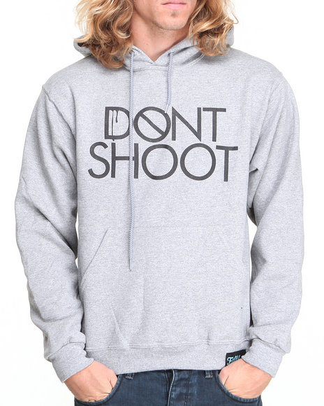 Filthy Dripped Grey Don't Shoot Hoodie