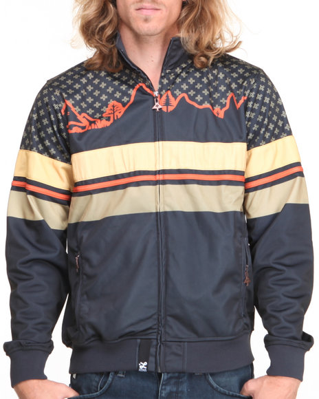 LRG - Men Black Wonderland Track Jacket