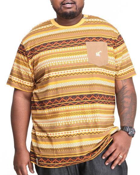LRG Yellow Lion Rock Rock S/S Knit Tee (Big & Tall)