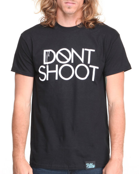 Filthy Dripped - Men Black Don't Shoot T-Shirt - $19.99
