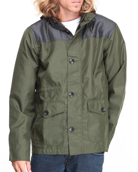 LRG - Men Olive Fields Of Green Jacket