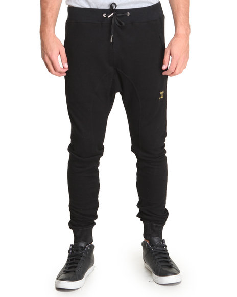 Double Needle Black Dark City Fleece Pants
