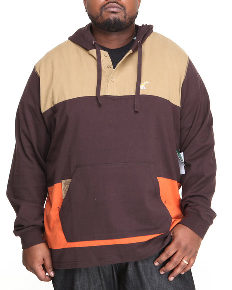 Lrg - Men Brown Presidente Pullover Hoodie