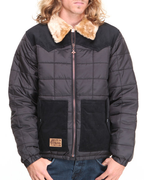LRG - Men Black Father Nature Puffy Jacket