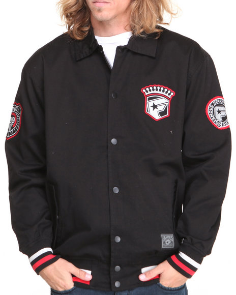 Famous Stars & Straps Black Crowned Canvas Jacket
