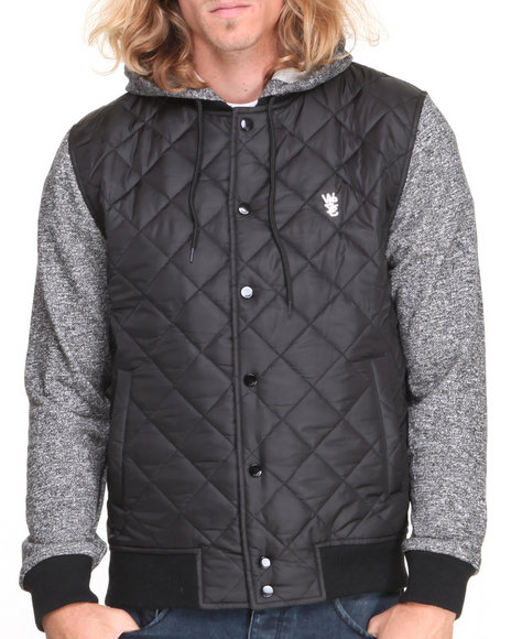 WESC Black Quilted Hood Jacket