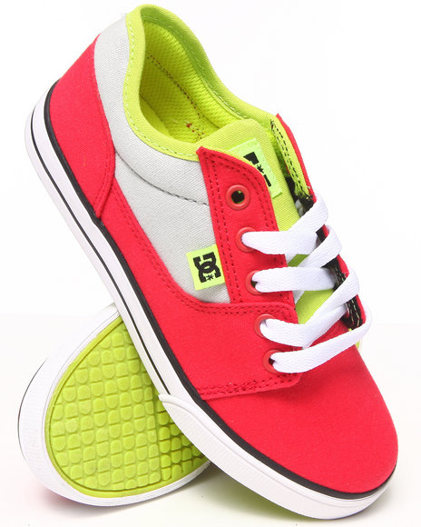 Dc Shoes - Boys Red Bristol Canvas Sneakers (1-7)