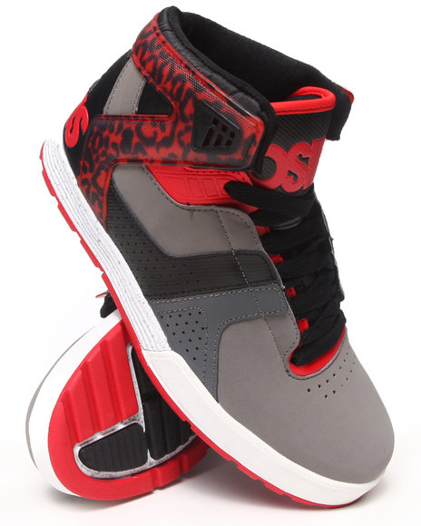 Osiris - Men Black,Grey,Red L2 Sneakers