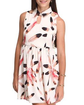 DJP OUTLET - Feather Print Dress