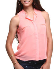 Tops - Holly Chiffon Sleeveless top w/beads