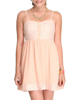 DJP OUTLET - Lace Dress with chiffon