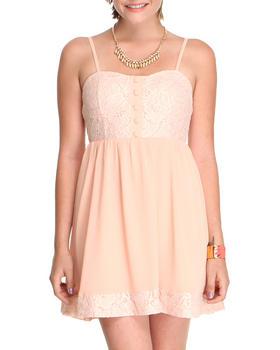 DJP OUTLET - Lace Dress with chiffon