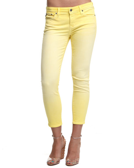 DJP OUTLET - Women Yellow Big Star Alex Crop Banana Colored Denim Pants