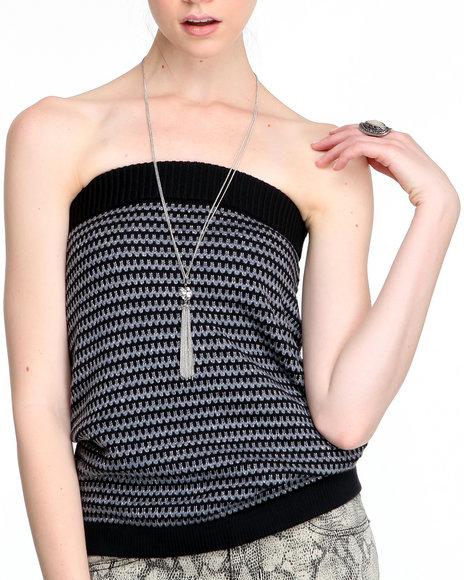 Djp Outlet - Women Black Enver Tube Sweater