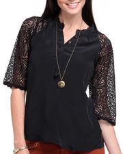 Women - The Reese Lace Henley Blouse