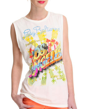 DJP OUTLET - Lady Baltimore  Lady Los Angels Sleeveless Crewneck Tee
