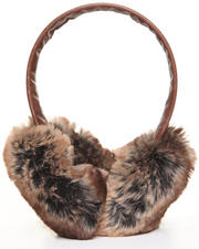 Women - Faux Brown Chinchilla earmuff