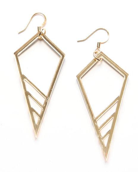 Djp Outlet Women Plastique Cone Earrings Gold