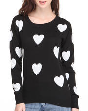 Sweaters - Love Heart Detail Light Weight Pullover