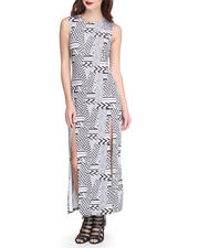 Fashion Lab - Aztec Geo Print Sleeveless Maxi Dress