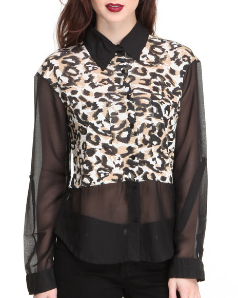 Animal Print Tops for Women
