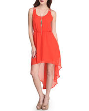 Fashion Lab - Chiffon Hi-Lo Racerback Dress w/ Cutout Detail in Back