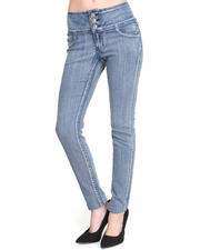 Basic Essentials - Donna 3-Button High Waist Skinny Jean