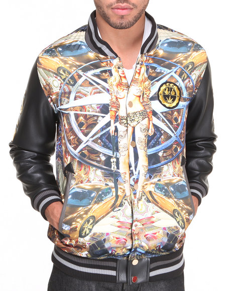 S - M - W - Men Gold The Four Winds Varsity Jacket