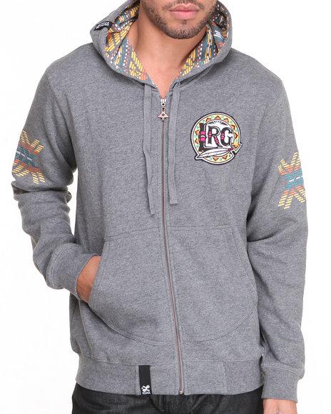 LRG Charcoal Mali Zip Up Hoodie