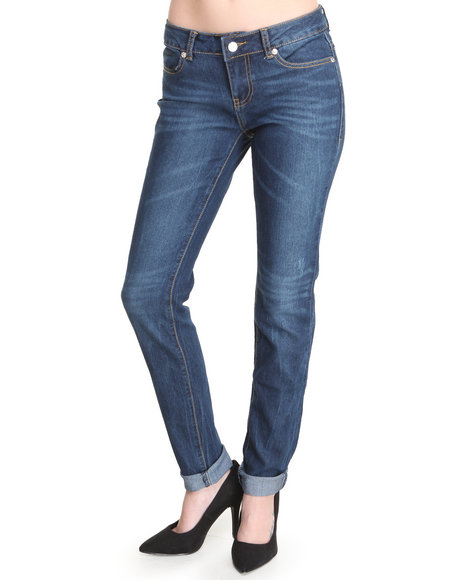 Coogi - Women Dark Blue Crest Back Pocket Jeans