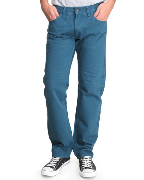 Rocawear - Men Teal Fifth Element Straight - Fit Denim Jeans