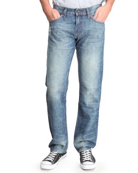 Rocawear - Men Medium Wash Life & Time Straight - Fit Denim Jeans