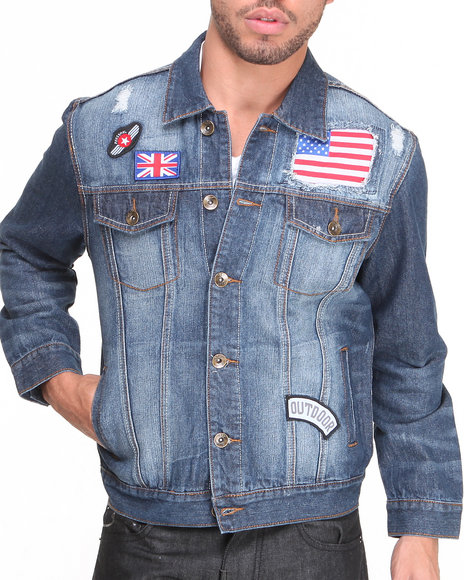 Buyers Picks - Men Medium Wash Denim Jacket - $36.99