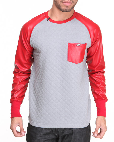 Well Established - Men Red,Grey Establan Raglan Tee