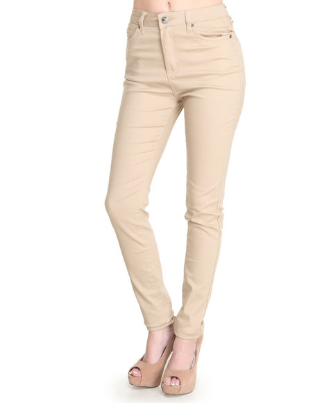 Basic Essentials - Women Khaki Han High Waisted Skinny Jean