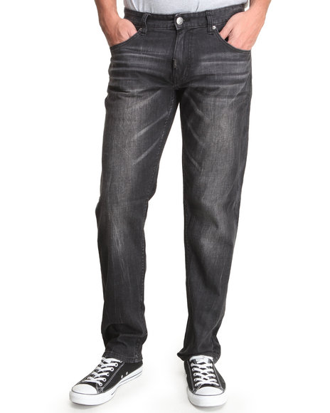 LRG - Men Black Still Find Time To Rock True-Straight Jeans