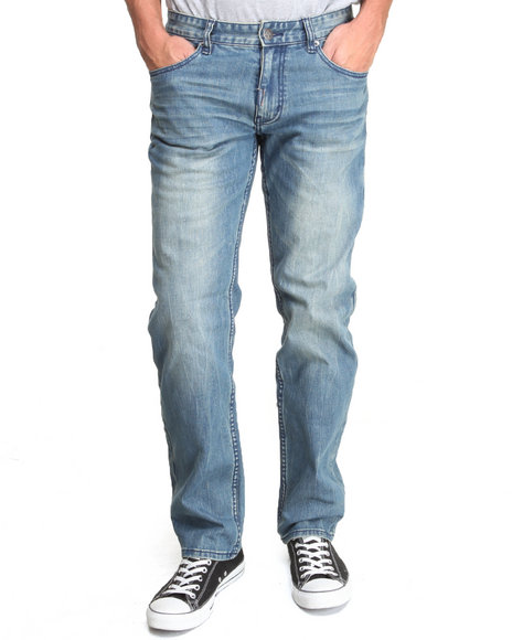 Lrg - Men Dark Wash Still Find Time To Rock True-Straight Jeans
